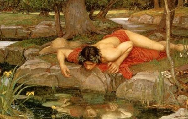 Джон-Уильям Уотерхаус Эхо и Нарцисс. Фрагмент. 1903 г.