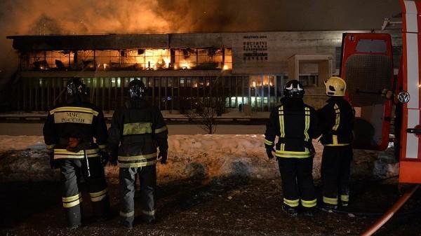 В Москве сгорело здание библиотеки ИНИОН (Фото+Видео)