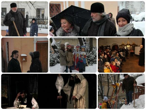 Рождество в Хохлах: подарки прохожим, глинтвейн и снеговик от настоятеля (ФОТО)