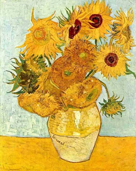 """Картина ван Гога """"Подсолнухи"""""""