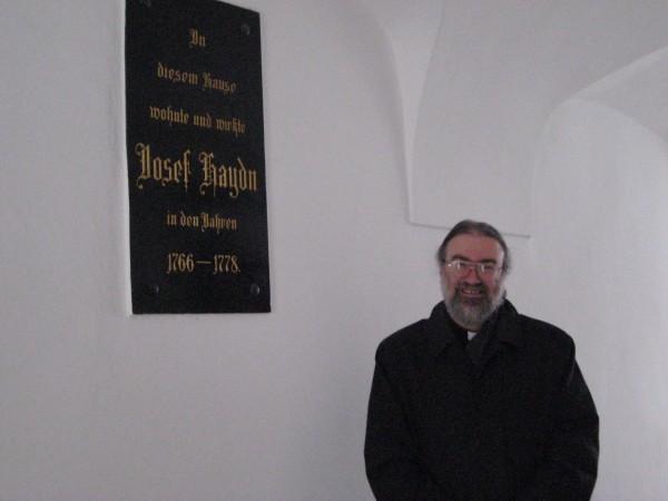 Автор лекции в доме Гайдна в Айзенштадте