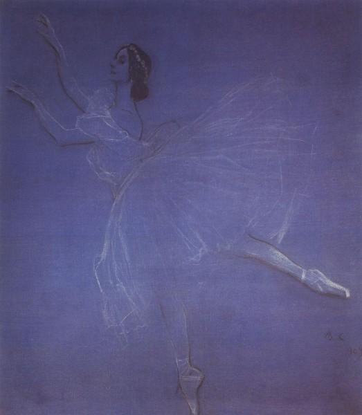 Анна Павлова в балете Сильфиды