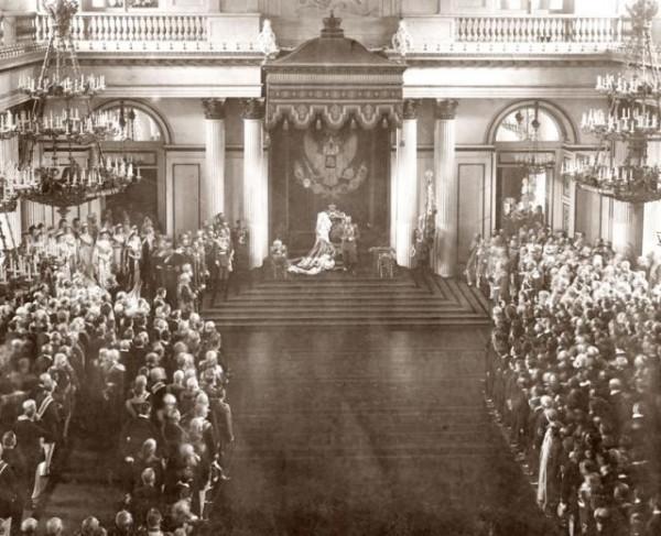 Торжественное открытие Государственной думы и Государственного совета. Зимний дворец. 27 апреля 1906. Фотограф К. Е. фон Ганн