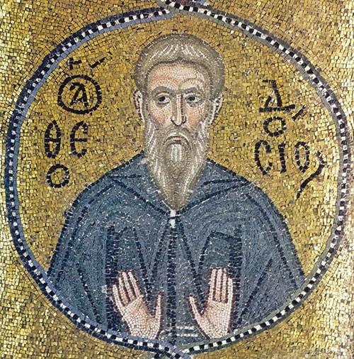 Преподобный Феодосий Великий икона