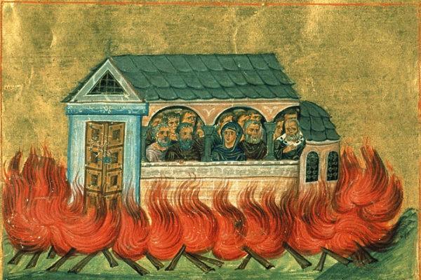 Церковь чтит память 20 тысяч мучеников, в Никомидии пострадавших