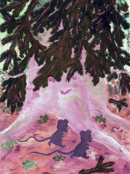 Евдокия Рисак, 11 лет. Дик и Пик. Иллюстрация к собственной книге о мышатах