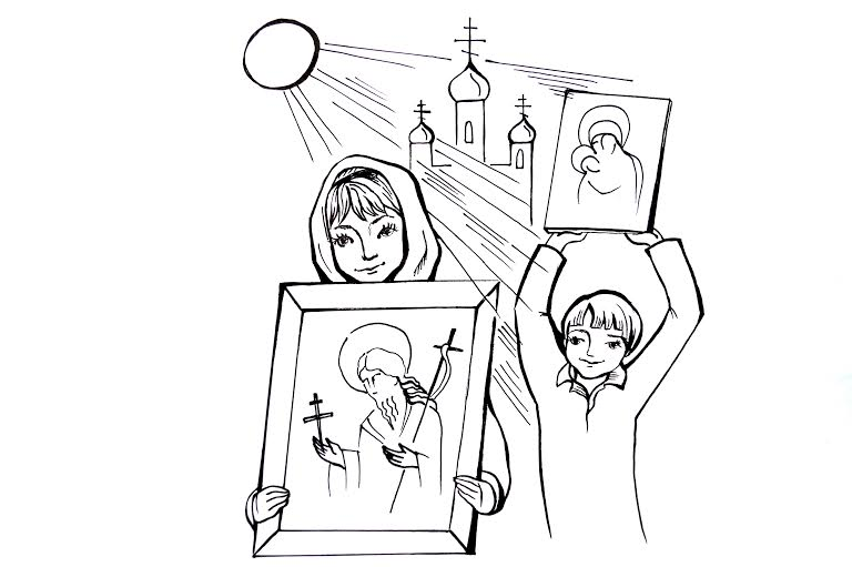 Детям о посте в картинках