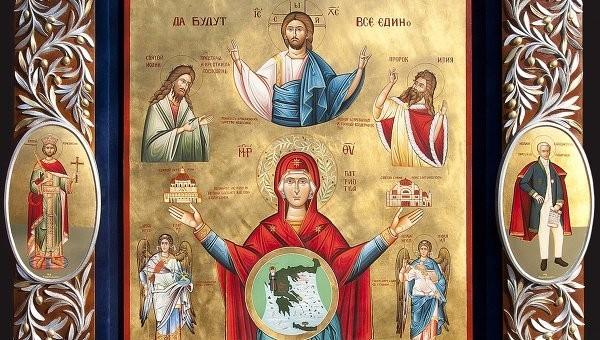 """Афонские монахи подарят икону """"Единство"""" президенту России"""
