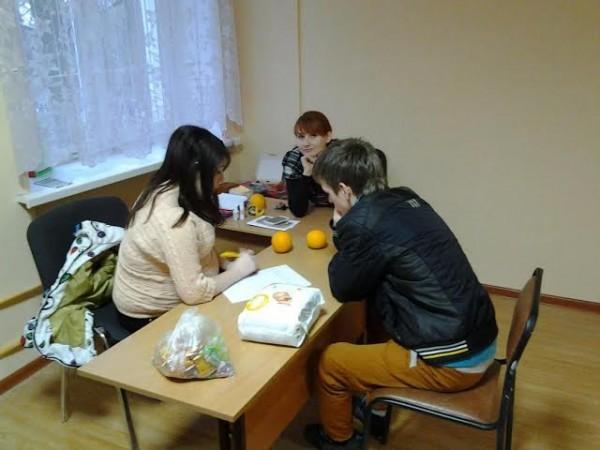 Полина и Олег с психологом Ульяной Сорокиной