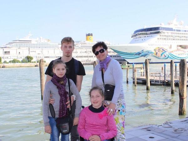 Семья Стефняк в Венеции