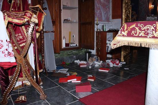 В Хорватии вандалы осквернили православный храм