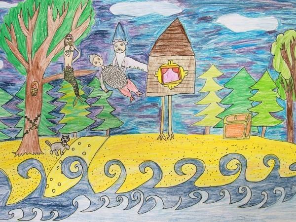 Гончарова Арина, 8 лет: «У Лукоморья дуб зелёный…»
