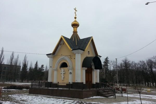 Часовня мученика Виктора в Горловской епархии повреждена осколками снаряда (+ФОТО)
