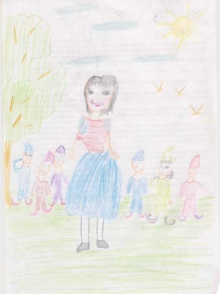 Усачева Анастасия, 8 лет. Белоснежка