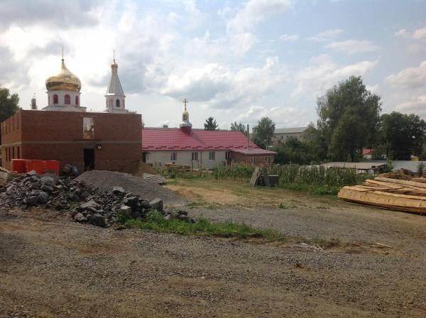 Строительство храма в Виньковцах. Фото: orthodoxy.org.ua