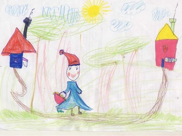 Полина Молородова, 5 лет. Красная шапочка
