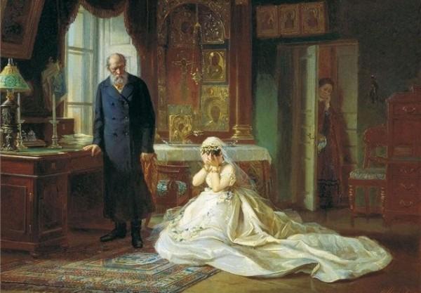 Фирс Журавлев. Перед венцом. 1874 г.