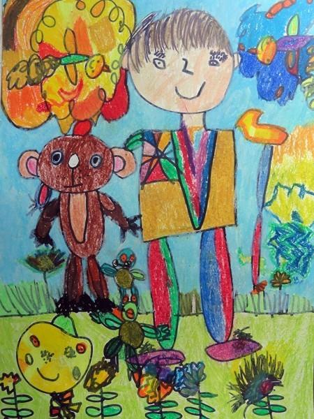 Григорий Лавров, 6 лет. Друг детства