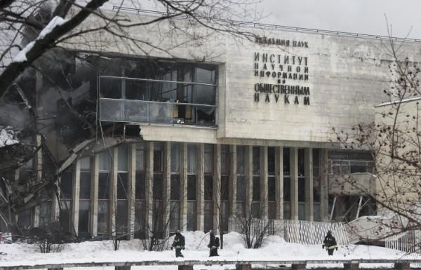 ИНИОН потерял 20% библиотечного фонда из-за пожара