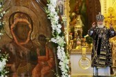 В Москве тысячи верующих встретили Смоленскую икону Божией Матери