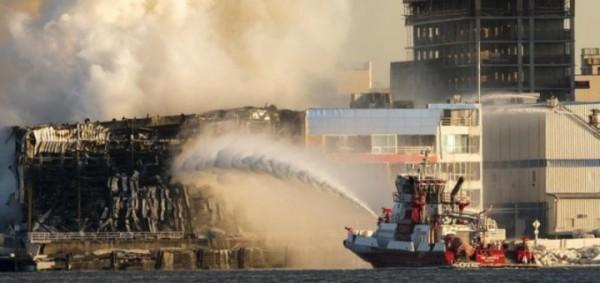В Нью-Йорке произошел пожар в здании хранилища документов