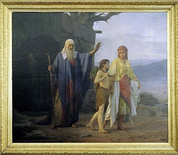 Козьма Кудрявцев. Авраам изгоняет из дома Агарь с сыном ее Измаилом. 1878