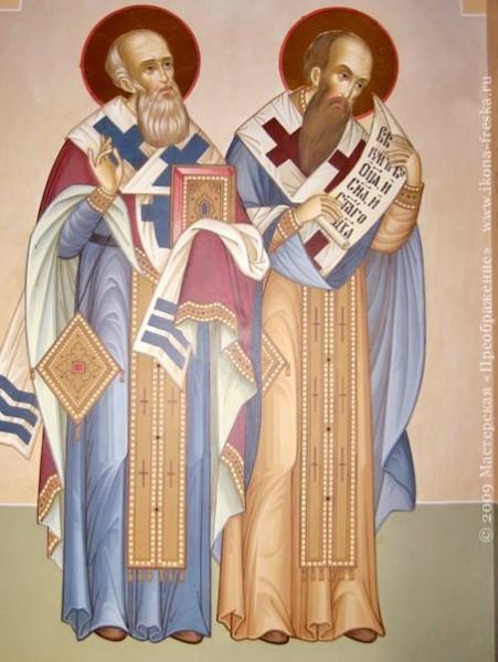 святители Григорий и Василий