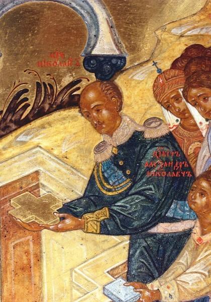 Николай I на закладке Храма Христа Спасителя, фреска, 1839 г.