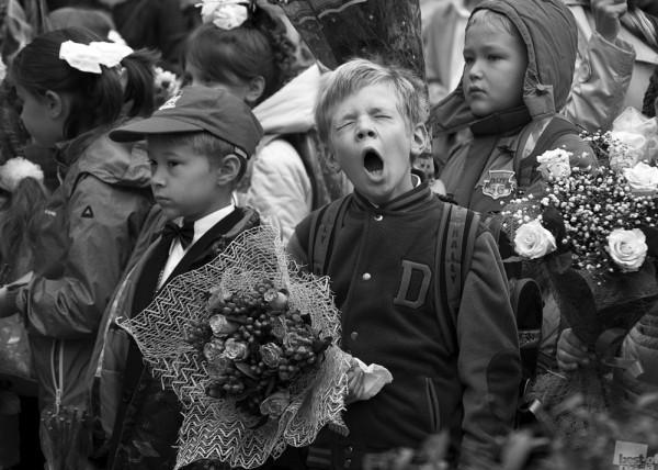 Опять школа. Праздничная линейка 1 сентября 2014 года, Москва, Автор - Ирина Гусева.