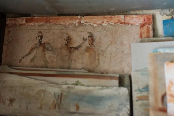 Репродукция фрески из катакомб