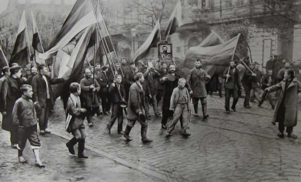 Демонстрация черносотенцев в Одессе