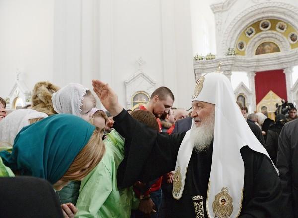 Патриарх Кирилл: Богослужение — это пустыня посреди мечущегося мегаполиса