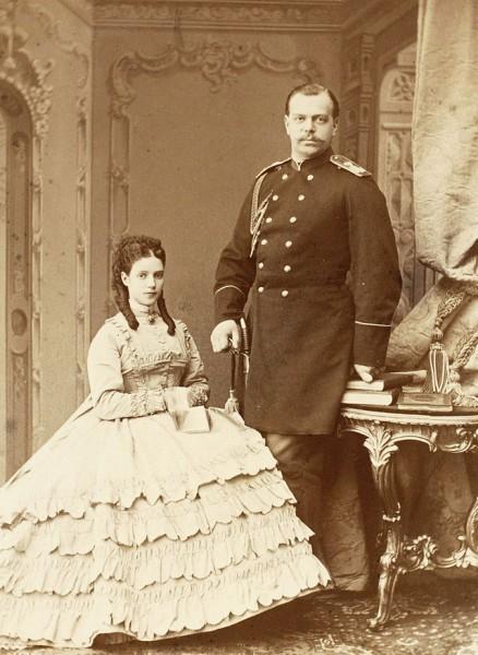 Александр Александрович со своей супругой в конце 1860-х годов