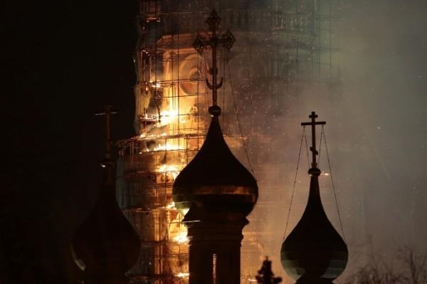 Причиной пожара в Новодевичьем монастыре могло стать нарушение правил пожарной безопасности