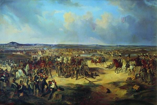 Сражение при Париже в 1814 г. худ. Б. Виллевальде (1834)