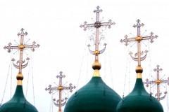 Ветер сорвал главный крест на куполе собора Рождества Христова в Новокузнецке