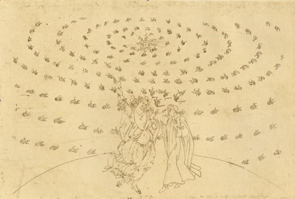 Сандро Боттичелли, из иллюстраций к «Божественной комедии» (Рай, XXVIII)