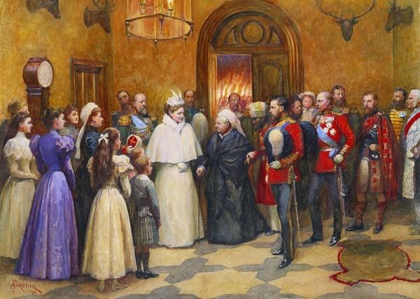 Александр III в гостях у королевы Виктории в замке Балморал