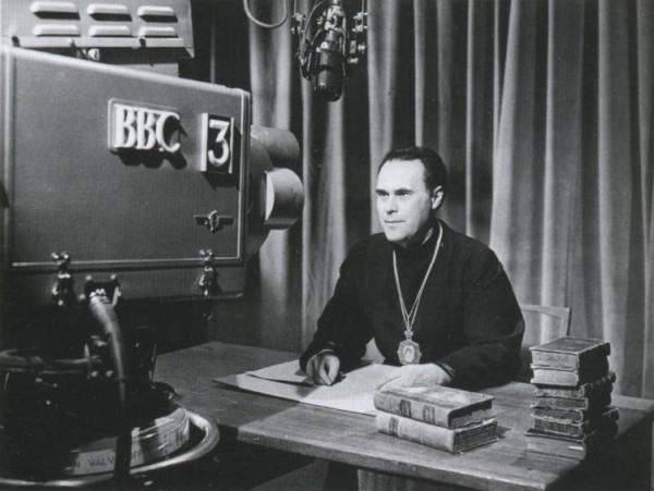 Митрополит Антоний в студии BBC. 1975 год