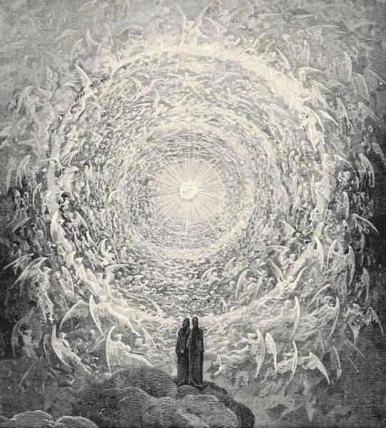 Гюстав Доре, из иллюстраций к «Божественной комедии» (Эмпирей)