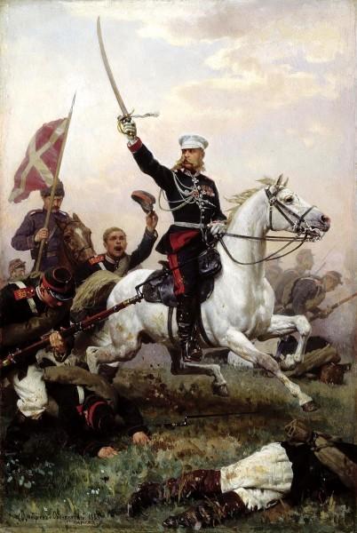 Дмитриев-Оренбургский Николай - Генерал Н. Д. Скобелев на коне
