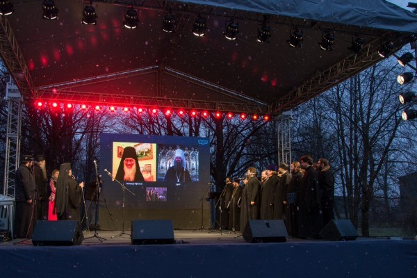 В Санкт-Петербурге состоялся телемост между тремя лаврами