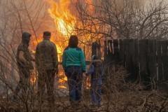 Очевидцы пожара в Хакасии: Паника была огромная