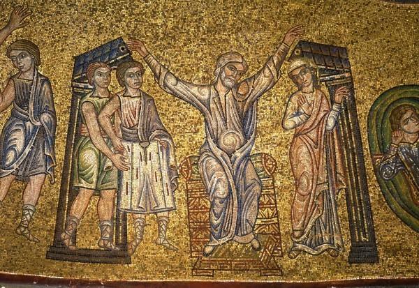 11.Братья предъявляют Иакову одежду Иосифа. Иаков в горести раздирает одежды свои (Быт. 37. 32-35).