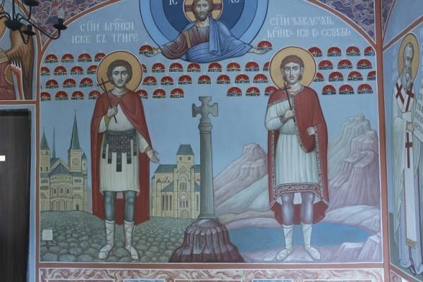 Мученик Маврикий - фреска в храме св. Сорока мучеников в городе Трире