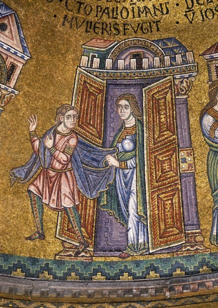 15.Иосиф оставляет одежду свою в руках жены Потифара и бежит прочь (Быт. 39. 12).