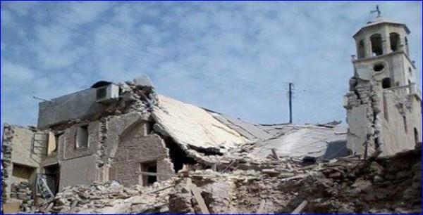 Церковь Сорока мучеников в Алеппо после атаки ИГИЛ