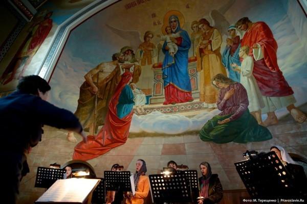 Клирос Спасо-Преображенского собора в Донецке