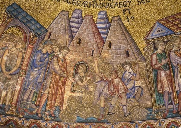 28.Иосиф собирает семилетний урожай хлеба в земле Египетской (Быт. 41. 47-49).