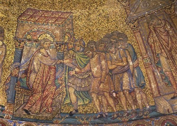 33.Иосиф отдает приказание связать Симеона, младшего брата перед глазами братьев своих. (Быт. 42. 4-16).